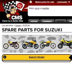 GSX750X parts Europe