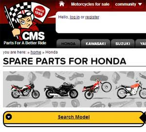 Honda dirt bike parts Europe