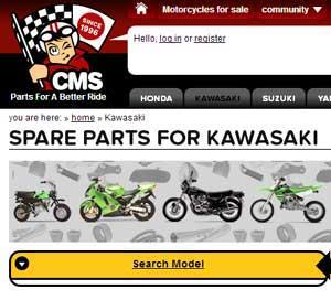 klx250d parts Europe