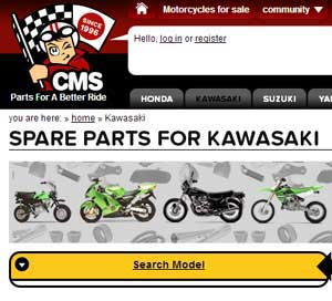 klx300r parts Europe