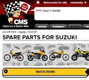 suzuki dirt bike parts Europe