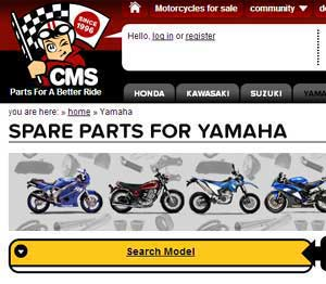 yamaha dirt bike parts Europe