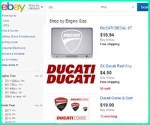 cheap Ducati street bike parts