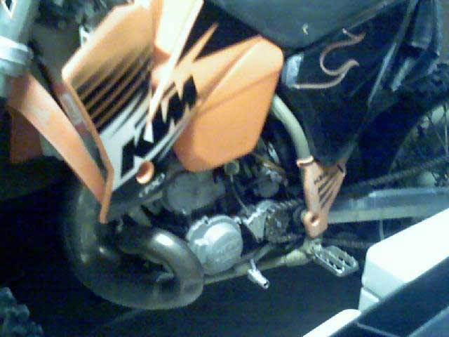 Partial Pic of Unknown KTM dirt bike