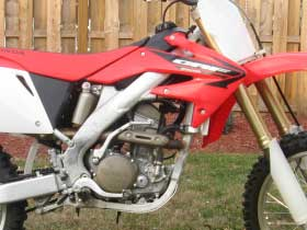parts for a Honda dirt bike