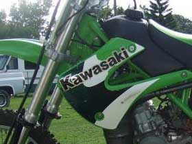 parts for a Kawasaki KDX200