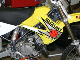 parts for a Suzuki RM dirt bike