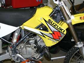 parts for a Suzuki RM dirt bike