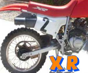 parts for an XR 250R