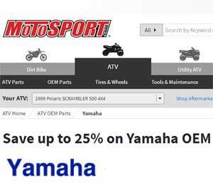 OEM yamaha 4 wheeler parts