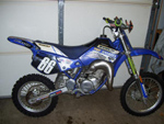 Yamaha racing dirt bike