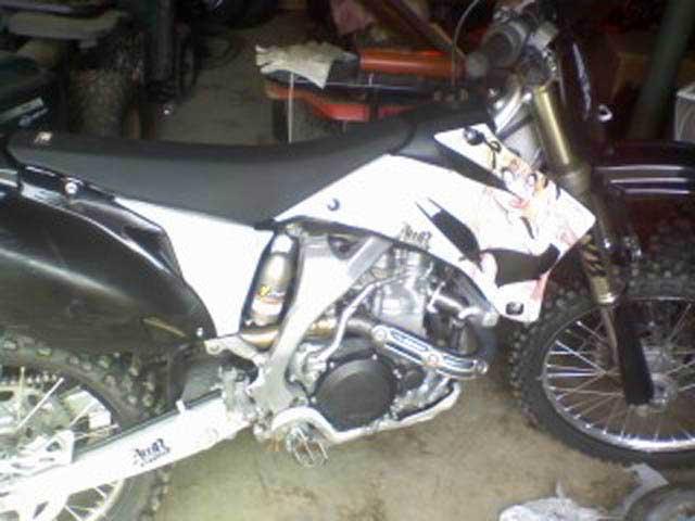 08 YZ450 dirt bike