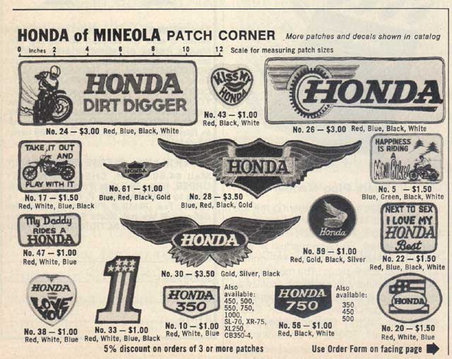 old Honda patches