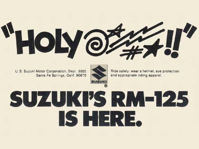 Suzuki RM 125 ad