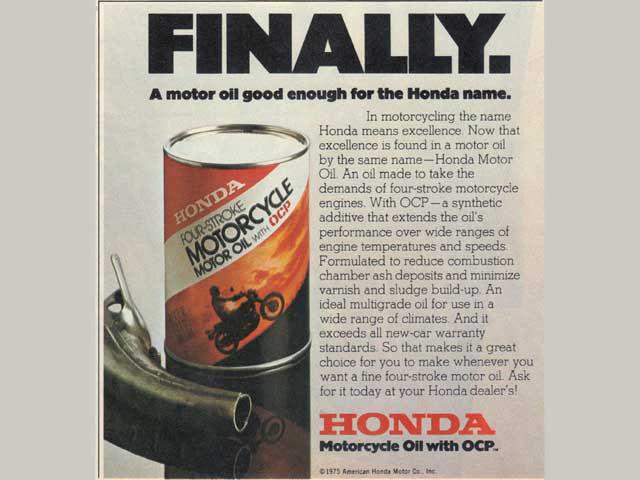 Honda motorcycle oil