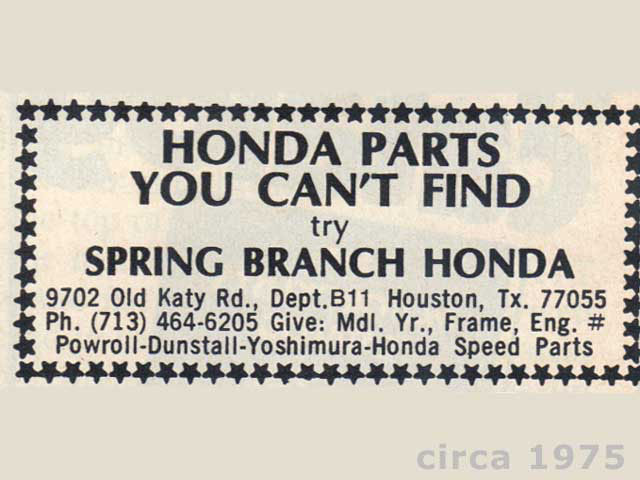 Spring Branch Honda Parts